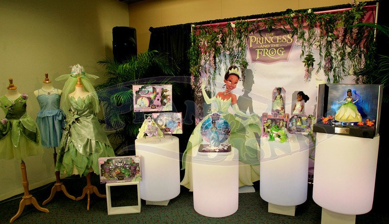 Vestido verde da princesa eo sapo